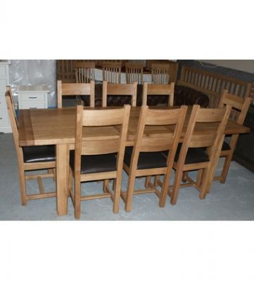 Vancouver Petite Reclaimed European Oak Dining Table.8 Chairs