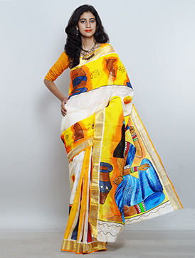 Online shopping for casual kerala cotton saris by unnatisilks
