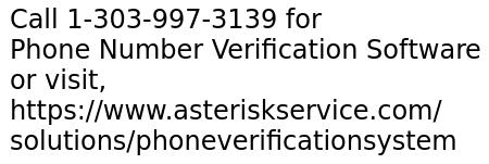 Phone Number Verification Software Development By Asterisk Expert